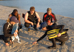 Planificando un ejercicio en la playa