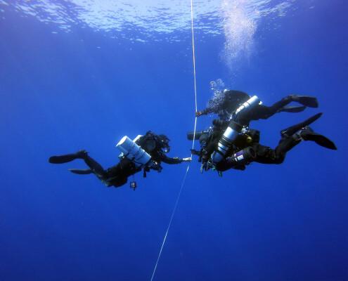Glups Diving realizando inmersión con Trimix