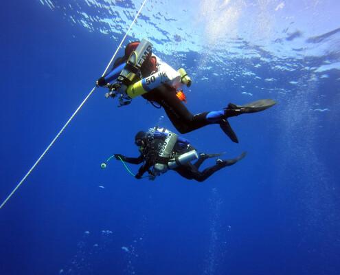 Glups Diving Realizando inmersión de Trimix